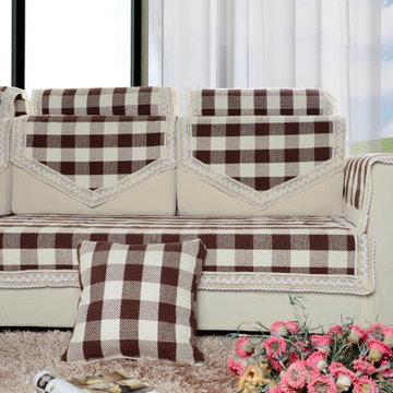 福存家居 全棉手工编织沙发垫 真皮布艺沙发坐垫 沙发