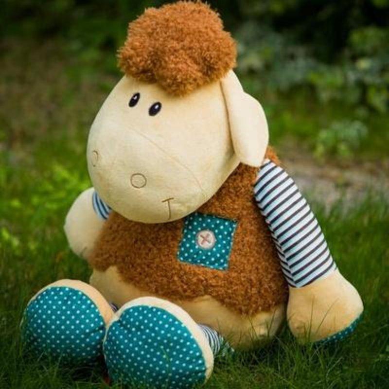 毛绒玩具 哈哈格 娃娃 温柔可爱多利羊 (90cm中大号)