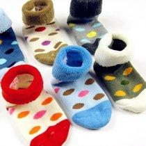 好阿姨加厚儿童袜 圆点毛巾袜 宝宝毛圈袜 婴儿中筒袜子 秋冬季袜子保暖