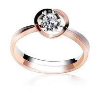 梦克拉白18K玫瑰金钻石戒指 爱的源泉