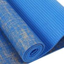 凯速 天然亚麻环保无味瑜伽垫 健身体操防滑垫 复合亚麻瑜伽垫午睡垫子 加长加宽儿童爬行垫 蓝色紫色(蓝色)