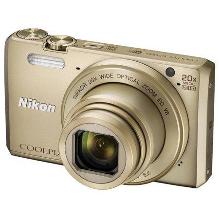 尼康(Nikon)COOLPIX S7000 2003万总像素 数码相机 20倍光学变焦 金色