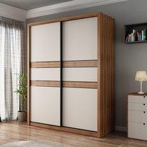 A家 衣柜 儲物1.6米1.8米衣櫥木質臥室整體大衣柜臥室家具推拉門衣柜都市陽光臥室家具 推拉門衣柜(A款 1.6米)