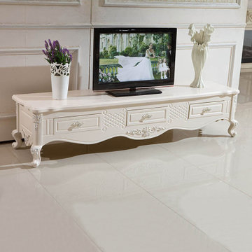 欧式客厅家具 现代简约环保高端实木茶几电视柜f2(电视柜原木台面