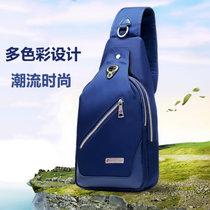 瑞士军刀单肩包书包 苹果iPad mini平板背包 ?#20449;?#20241;闲款运动斜挎包胸包(蓝色)