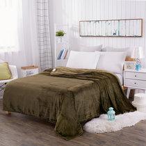 黛?#24247;?#22900; 新款菠萝格小毛毯双人法兰绒毯子毛巾被空调午睡毯加厚单人薄床单(菠萝格 墨绿色)