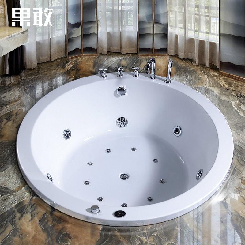 浴缸嵌入式亚克力浴缸欧式圆形家装贵妃出口浴缸1.2 1.3 1.4 1.5 1.