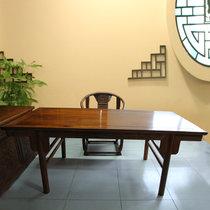 红木家具2.2米红木书桌?#30340;?#20070;画桌书法桌画案非洲黄花梨木(其他 2.2米书桌)