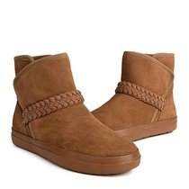 crocs卡駱馳 女鞋冬季平底 女士芮莉休閑洛基雪地靴|204798 女士芮莉休閑洛基靴(巧克力色 37)