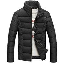 男款丝棉衣bebeeru新款韩版潮冬棉袄男士冬季外套加厚立领棉服男S8009(黑色)