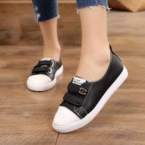 春季女小白鞋2019新款学生韩版软底百搭帆布鞋白鞋运动休闲板鞋(黑色 38)