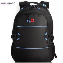 瑞吉仕电脑包双肩背包 男女15.6寸书包(黑色)