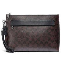 COACH/蔻馳 奢侈品男包 新款男士大號休閑手腕包 手拿包 錢包 F29508(黑色)