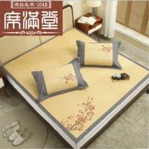 绣花藤席1.8m床中国风复古加厚空调折叠1.5米凉席席子(默认 默认)