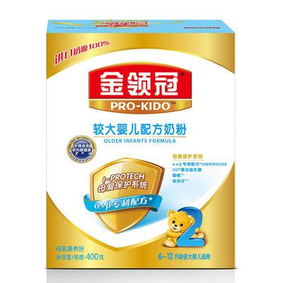 【国美自营】伊利金领冠较大婴儿配方奶粉2段400g