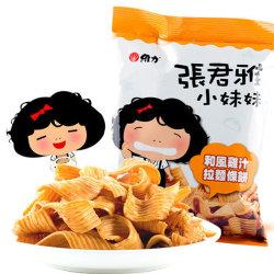 国美自营 台湾进口 张君雅和风鸡汁拉面条饼65g 零食