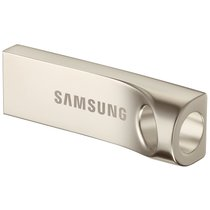 三星(SAMSUNG)Bar 64GB USB3.0 U盘 读130M/s 金属银