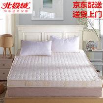 北极绒家纺 记忆棉床垫加厚可折叠学生上下铺0.9米单人床褥子寝室床垫子(加厚米白色10cm 默认)