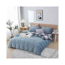 多喜爱简约牛奶绒四件套绣花套件加厚保暖床上用品(星海清梦)