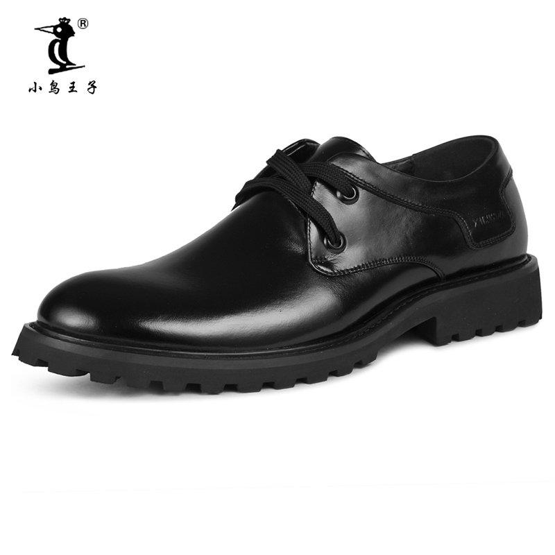 小鸟王子 2014冬季新款男士皮鞋正装鞋通勤男鞋婚鞋头层牛皮鞋8811(黑色 43)商品大图