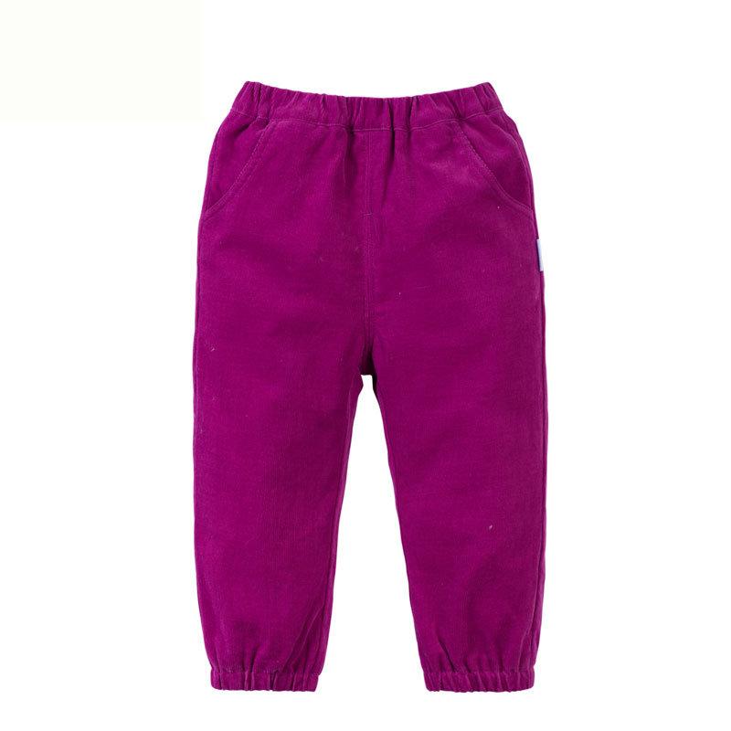 贝贝怡 2014新品婴儿服饰 灯芯绒长裤男女宝宝长裤143K026(紫红 90cm)商品大图