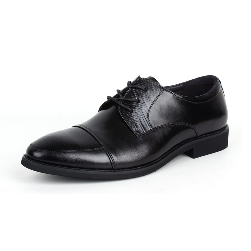 意尔康低帮系带鞋真皮男士商务正装鞋百搭皮鞋英伦男单鞋97278(黑色 40)商品大图