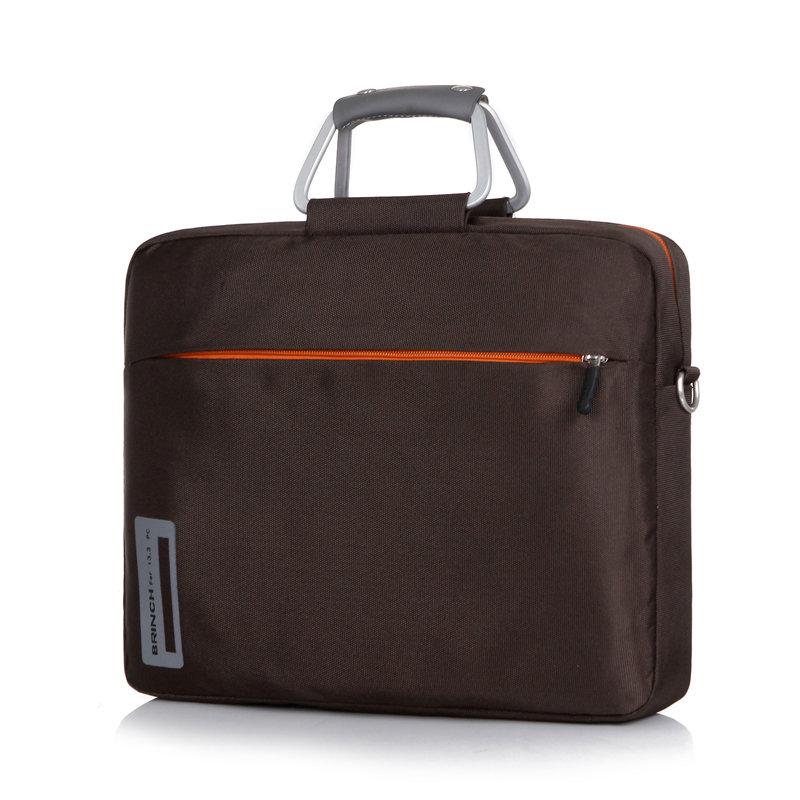 英制(BRINCH) 联想戴尔华硕宏基惠普HP DELL15.6寸15寸男女手提单肩笔记本电脑包公文包BW-127加大(棕色)商品大图