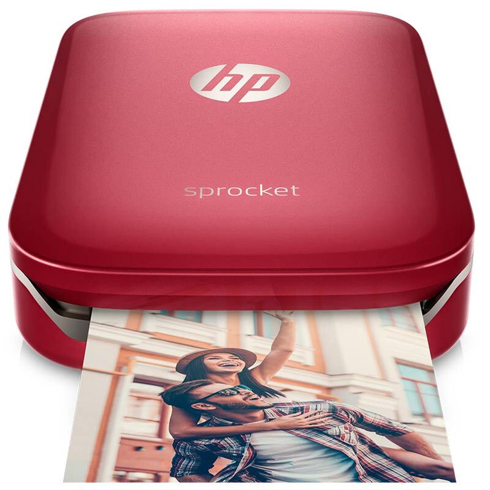 惠普照片打印机价格_惠普(HP)小印Sprocket 100(红) 手机口袋照片打印机 自拍伴侣 蓝牙 ...