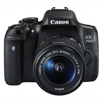佳能(Canon)EOS 750D EF-S 18-55mm f/3.5-5.6 IS STM 组合套机 750d(佳能(750D黑色 官方标配)