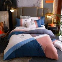 黛丝丹奴秋冬保暖四件套全棉纯棉家用磨毛4件套床单被套床笠款被单床上用品(圣卡罗豆沙 被套2x2.3m床单2.3x2.5m)