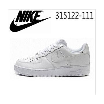正品空军一号男鞋女鞋 air force1情人节全白