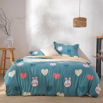 远梦四件套床上四件套温馨纯棉印花四件套可爱兔兔 被套(200*230cm) 纯棉材质 柔软舒适