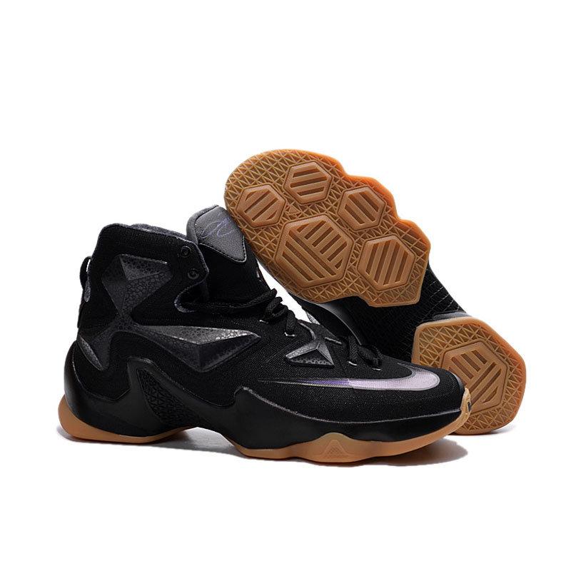 专柜耐克NIKE 詹姆斯13代全明星战靴 精英高帮气垫圣诞版战靴篮球鞋(黑骑士 41)商品大图