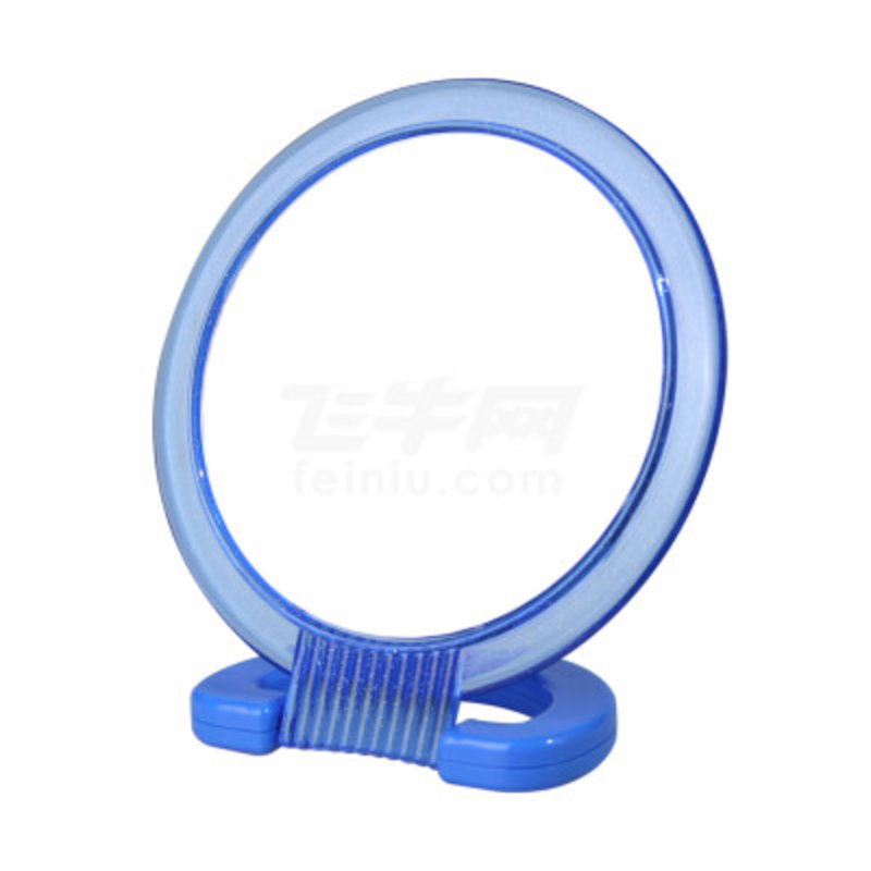 动动手 家居双面化妆镜(圆形(半透蓝)商品大图