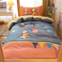 觉先生学生宿舍单人床上用品四件套恐龙星球1.2-1.5米床单款四件套 水洗面料 柔软舒适