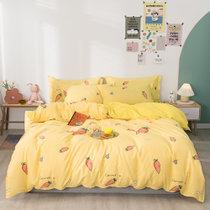 远梦四件套床上四件套温馨纯棉印花四件套胡萝卜 被套(200*230cm) 纯棉材质 柔软舒适