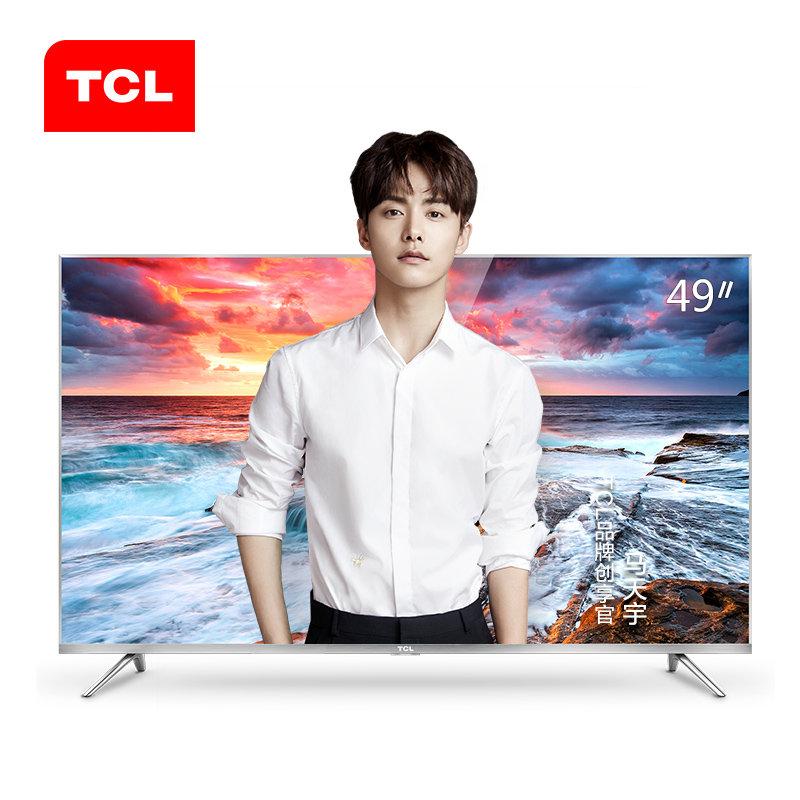 TCL 49A660U 49英寸4K电视纤薄64位30核HDR智能LED液晶平板电视