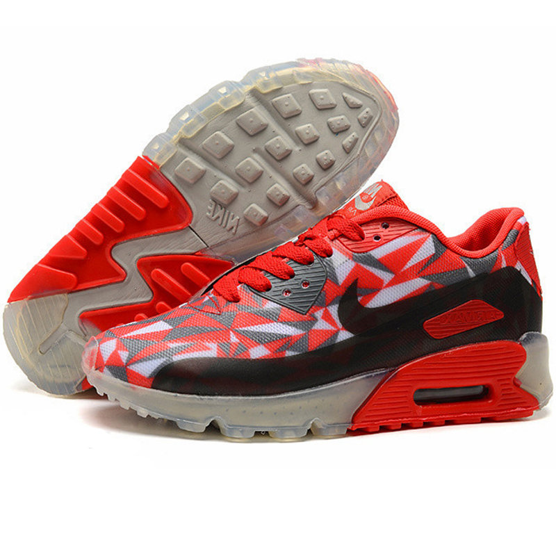 Nike耐克2014新款 AIR MAX90男女气垫鞋跑步鞋运动鞋休闲鞋 8057(红黑 38)商品大图