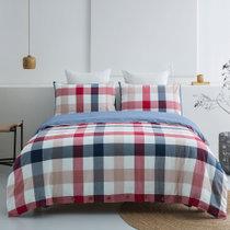远梦四件套日式水洗纯棉套件套1.5/1.8米单双人床单被套赛格尔 四件套(被套200*236CM) 纯棉面料 水洗工艺