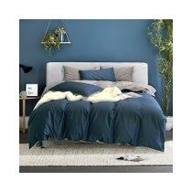 多喜爱纯棉60支长绒棉全棉简约纯色酒店家用四件套床上用品(颜奢时光(宝石蓝))