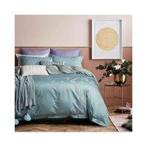 多喜爱家纺简约欧式四件套清新提花床品被套套件1.8M床(弥香【带提花礼盒】)