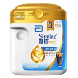 雅培(Abbott)亲体金装喜康力幼儿配方奶粉3段(12-36个月)900g