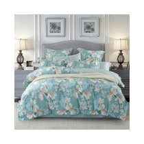 多喜爱60S长绒棉四件套纯棉全棉贡缎床上用品绣花被套礼品套件(时光暖暖)