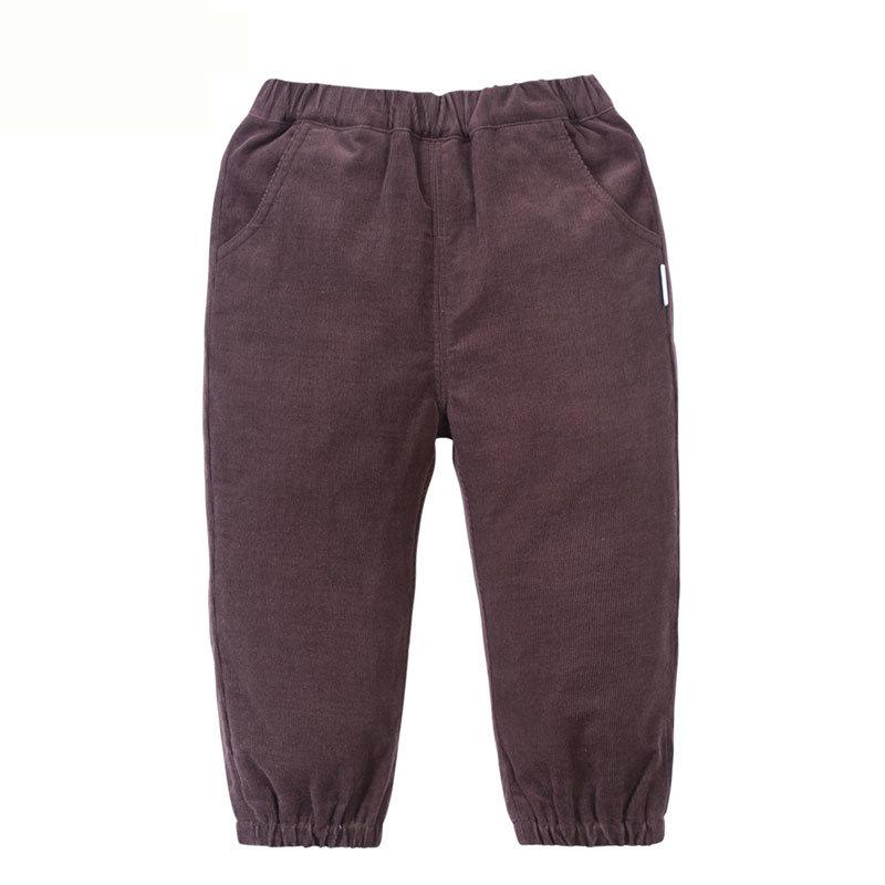 贝贝怡 2014新品婴儿服饰 灯芯绒长裤男女宝宝长裤143K026(深褐 90cm)商品大图