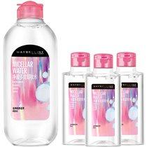 美宝莲净澈多效卸妆水(400ml+95ml*3) 温和卸妆保湿